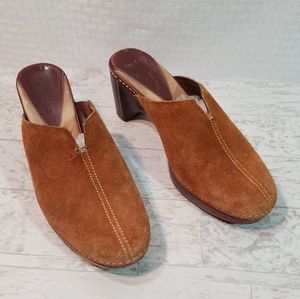 Cole Haan Country Tan Mules Clogs Size 6 1/2B
